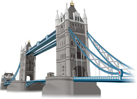 Tower of London Bridge Vector Illustration