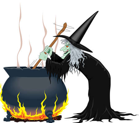 Witches Cauldron Vector Cartoon