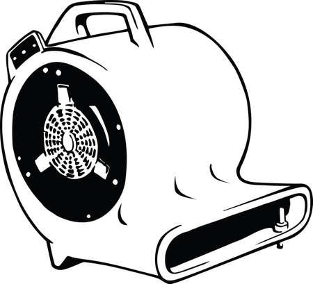 Portable Air Blower Vector Illustration