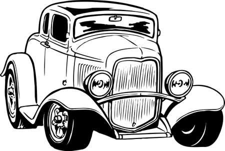 Antique Car Illustration Vettoriali