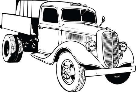 Farm Truck Vector Illustration