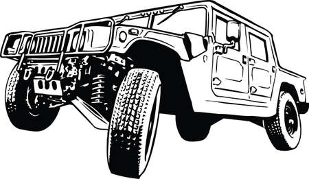 Humvee Vector Illustration 向量圖像