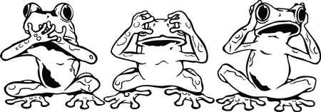 Voir aucune illustration vectorielle de grenouilles maléfiques