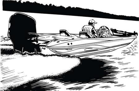 Speedboat Vector Illustration