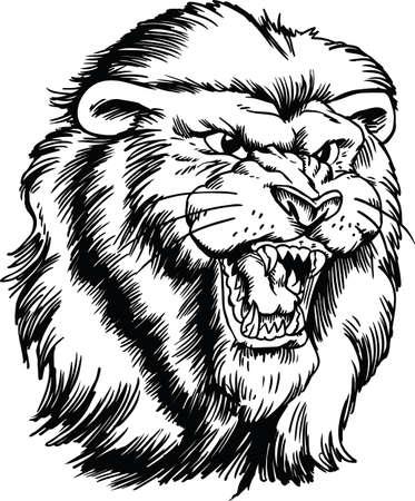 Lion Head Vector Illustration Banque d'images - 139799361