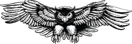 Owl Flying Cartoon Vector Illustration Banque d'images - 139781100