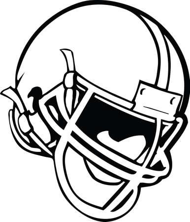 Football Helmet Vector Illustration Banque d'images - 140217034
