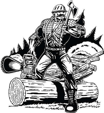 Lumberjack Vector Illustration Vector Illustration