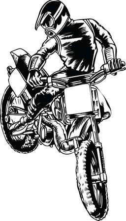 Motocross Jump Vector Illustration