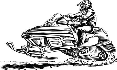 Snowmobile Vector Illustration