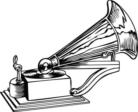 Antique Phonograph Vector Illustration 向量圖像