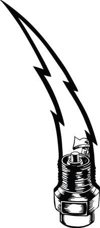 Spark Plug Bottom Vector Illustration Banque d'images - 140944979