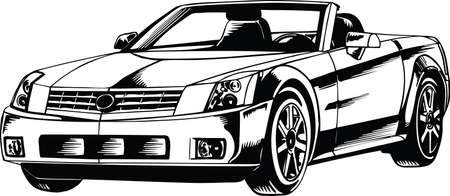 Luxury Convertible Car Vector Illustration Banque d'images - 140944981