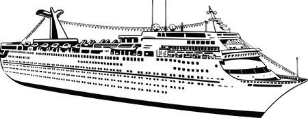 Cruise Ship Vector Illustration Banque d'images - 140944982