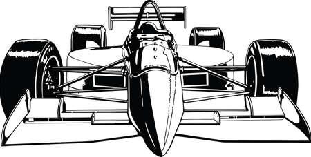 Indy Race Car Vector Illustration Banque d'images - 140944987