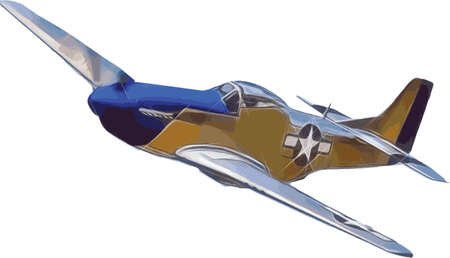 Mustang P-51 Fighter Aircraft Vector Illustration Banque d'images - 146858325