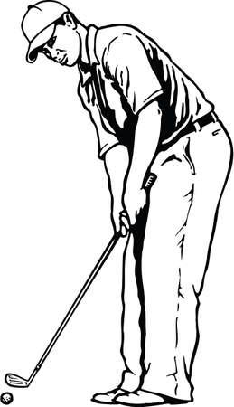 Golfer Vector Illustration Banque d'images - 147313004