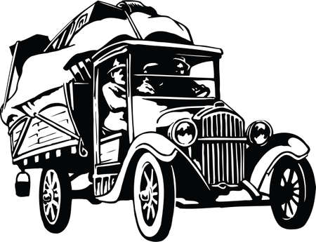 Family Moving Vector Illustration Banque d'images - 147068301