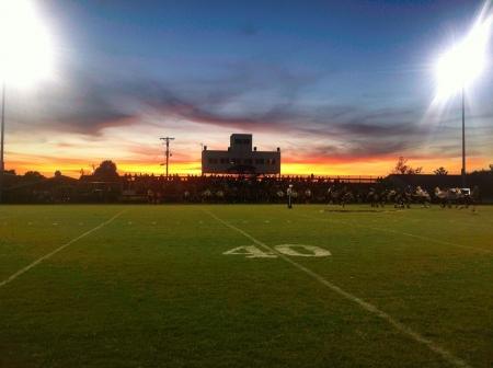 school football: Friday night lights in Kentucky.