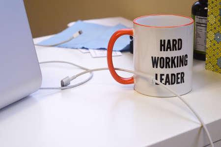 office desk: Mug On Office Desk
