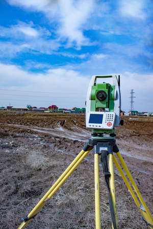 The instrument stands on a tripod when working in the field