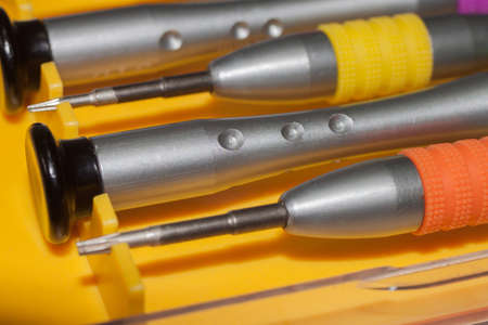 Small screwdriver to repair the equipment Stock Photo