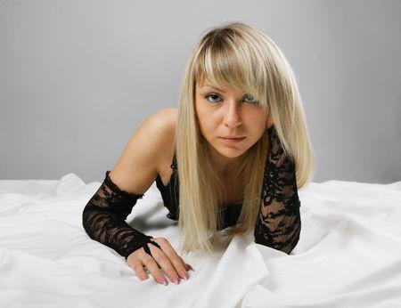 Close-up a beautiful blonde sex Stock Photo - 6237468