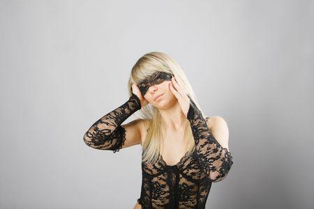 Close-up a beautiful blonde sex Stock Photo - 6237462