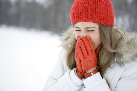 touching noses: Winter cold