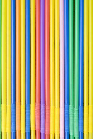 Colored straws photo