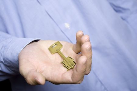 escrow: House key in palm