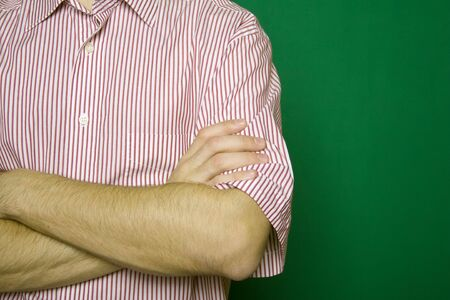 folding arms: Man folding arms Stock Photo