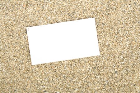 businesscard: Businesscard on sand Stock Photo