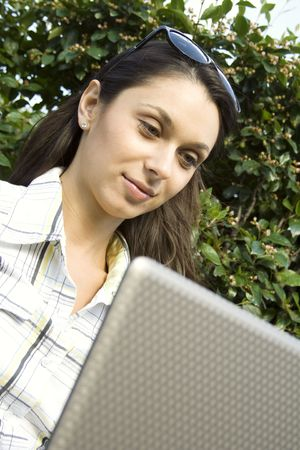 Young girl with a Laptop Stock Photo - 7167936