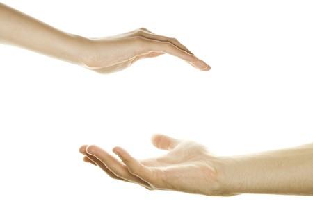 Hands, men and women Stock Photo