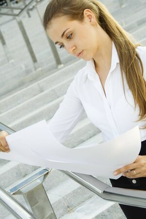 female architect: Young engineer