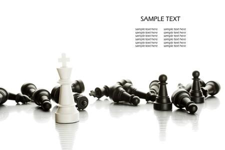 ajedrez: El rey blanco y ej�rcito negro