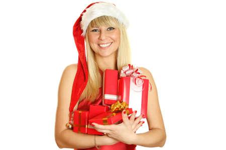 Beautiful christmas woman  photo