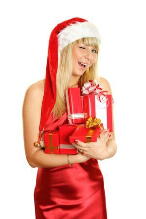 Beautiful christmas girl  photo