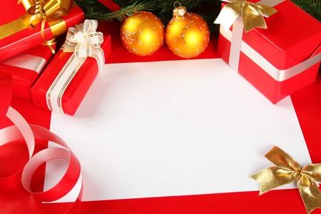 Christmas card of congratulations Stock Photo - 8168659