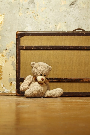 Suitcase with Teddy  photo