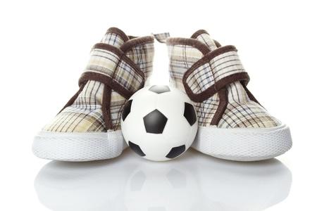 futbol infantil: F�tbol infantil Foto de archivo