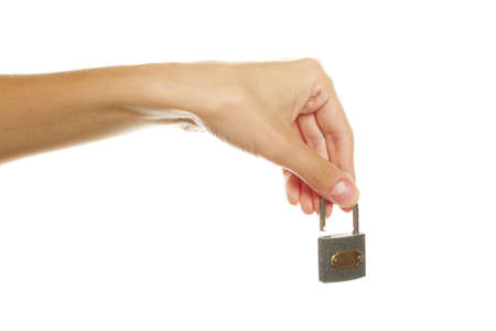 holding an opened lock photo