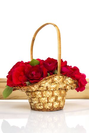 Basket of roses photo
