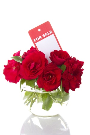 Red roses for sale photo