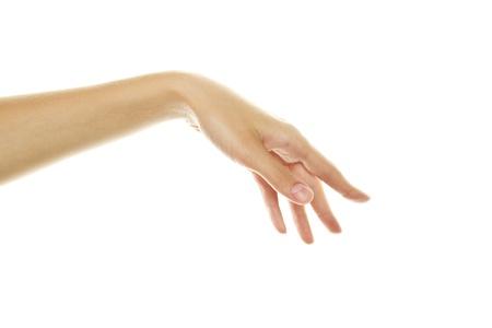 manos abiertas: Mano de la mujer