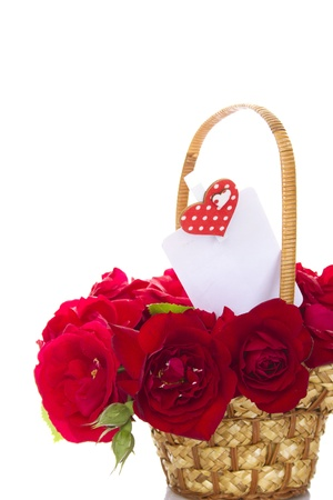 Basket of roses Stock Photo