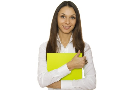 Businesswoman holding folder photo