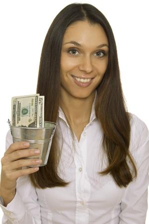 bucket of money: Savings