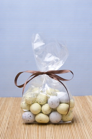 Sweets in the form of quail eggs photo